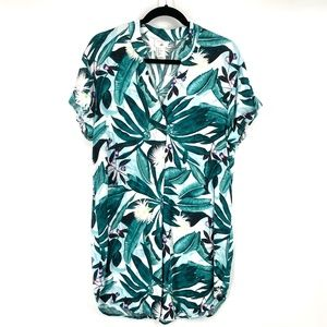 Anna Glover x H&M Hawaiian print shirt dress 6